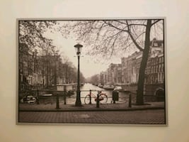 Large Amsterdam photo, silver frame