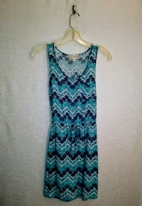BLUE PRINTED DRESS Wichita