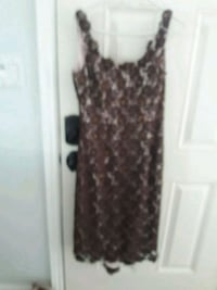 women's brown and black sleeveless dress Burbank, 91504