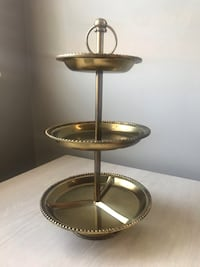 Classic Three Tiered Jewelry Stand, Brass Washington, 20002