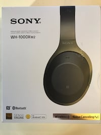 Sony WH-1000XM2 Premium Noise Cancelling Wireless Headphones Black 2017 model Newark