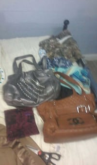 2 purses and a wallet