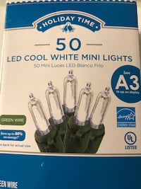 Holiday time 50 cool white led mini lights A3 Montgomery Village, 20886