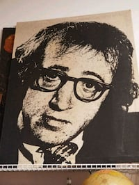 Vintage 1980s Large Woody Allen Canvas  Kensington, 20895