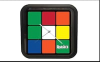 Rubiks wall clock Washington, 20011