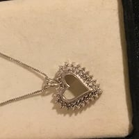 925  40 diamond heart necklace Glen Burnie, 21061
