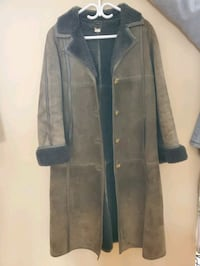 Vintage leather and fur womens jacket size 42
