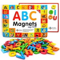 Pixel Premium ABC Magnets for Kids Gift Set - 142 Sterling Heights, 48310