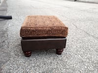 brown fabric ottoman