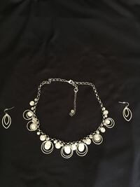 silver-colored necklace and earrings Lakewood, 90715