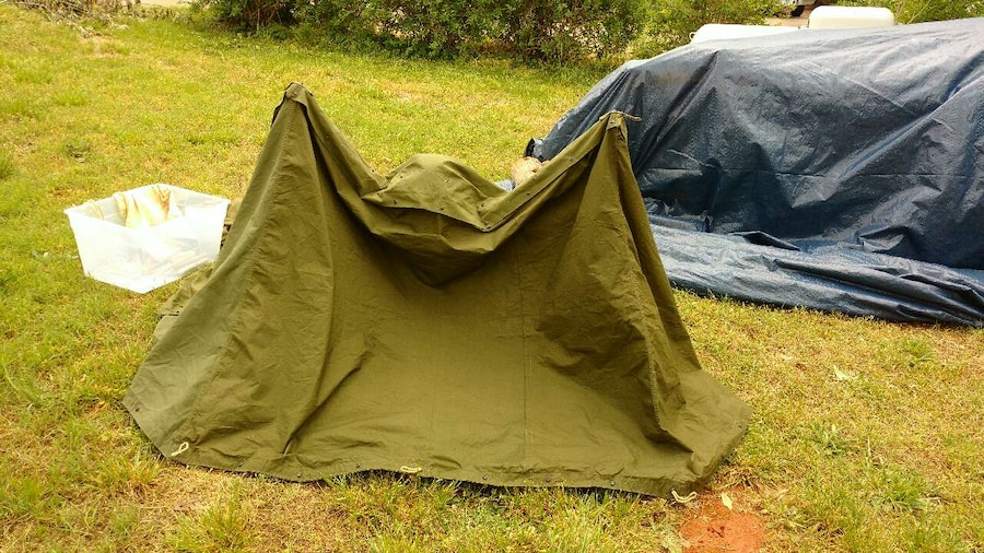 Genuine military pup tent & Used Genuine military pup tent for sale in Rutherfordton - letgo