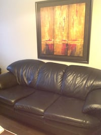 Black leather couch set  Vaughan, L4H 3P6