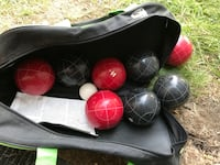 black and red bowling ball set Laval, H7M