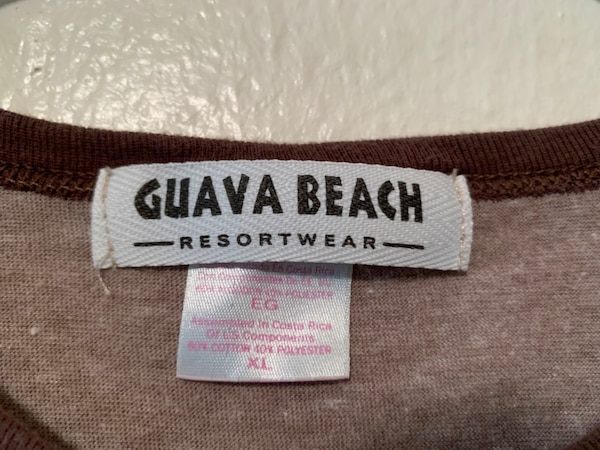 Guava Beach Small Brown Nantucket Women T Shirt Short Sleeve Dog Lover Gift Cute