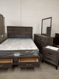 Brand New Queen Bedroom Set with storage drawers for $899 London