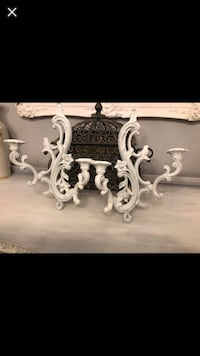 """Set Of Two Shabby Chic Wall Sconces 15""""X11"""" Gainesville, 20155"""