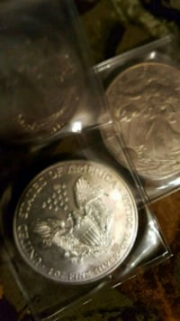 3 one once silver coins 20 each Rushville, 46173