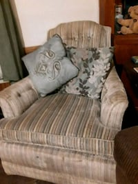 Comfy gray and blue chair Geismar, 70734