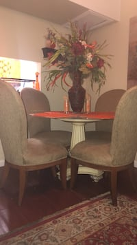 brown wooden dining table set Lauderhill, 33313