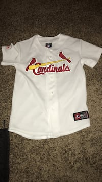 White and red St. Louis Cardinals baseball Jersey