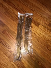 """New 21"""" and 24"""" blonde hair extensions. I believe they are the sew in type  240 mi"""