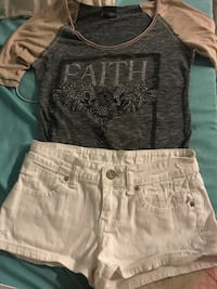 Top from buckle size small shorts size 3 $20 for the outfit  Saint Albans, 25177