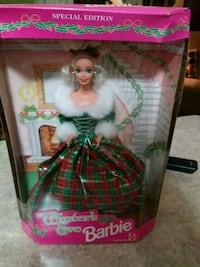 Collectible winter's eve barbie Clayton