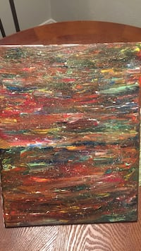 green, red, and brown abstract painting Dallas, 75243