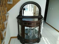 black and brown wooden framed glass cabinet Orland Park, 60467