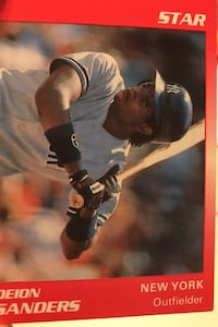 Deon sanders baseball card limited edition