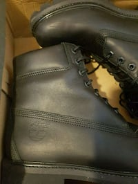Black Timberland leather boots with box 544 km
