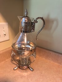 Silver plated and clear glass  teapot Nashville, 37211