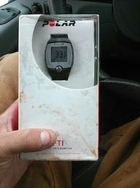 black Polar Heart rate monitor with box