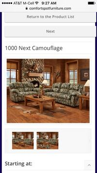 Next camouflage Sofa And Love