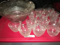 Antique punch bowl with 12 cups San Antonio, 78254