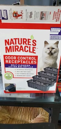Cat litter receptacles