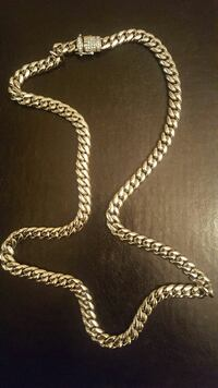New cuban link chain with diamond lock New York