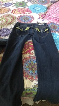 black denim straight-cut jeans Rockville, 20850