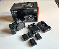 Sony A7sii camera body with 4 batteries and charger 539 km