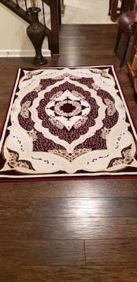 Red and off-white color, 4'by6', new area rug