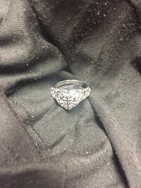 Sterling sliver cross and multiple hearts ring size 8 Houston, 77093