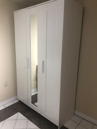 white wooden wardrobe with mirror Toronto, M3L 1W6