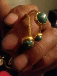 gold earrings  with turquoise stone  Midland, 79701