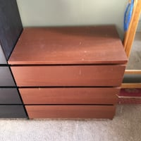 Brown wooden 3 drawer dresser  Washington, 20002