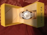 Round silver-colored chronograph watch with link bracelet Chattanooga, 37343