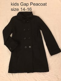 Gap kids dress coat. Size 14 -16 black Brampton, L6Z 1E1