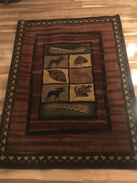 Cottage/Moose/Canoe themed area rug Cambridge, N1R 6Z8