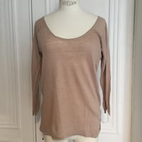 T-shirt manches 3/4 Zara saumon cotton