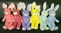 Set of 6 Salvino's Bammers Baseball Easter Bunnies Albany, 31707