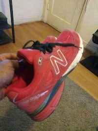 pair of red New Balance running shoes Washington, 20018
